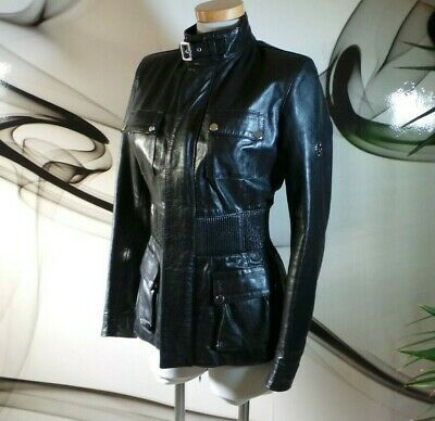 £525 • Buy Belstaff GOLD LABEL RARE FITTED REAL STUNNING Soft Leather JACKET COAT SIZE 14