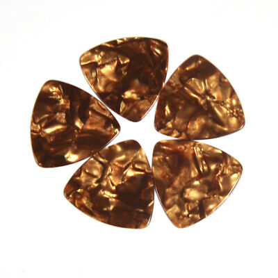 $ CDN18.99 • Buy 100Pcs Pearl Gold Celluloid Rounded Triangle 346 Guitar Picks Heavy 0.96mm