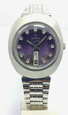 $ CDN38.95 • Buy Vintage Omax Automatic Day And Date  25 Jewels Movement Swiss Made Men's Watch .