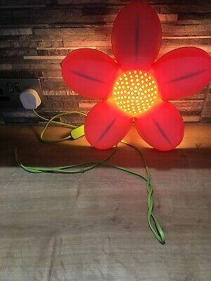 IKEA Smila Blomma Pink Flower Night Light Wall Lamp In Great Condition • 3.20£