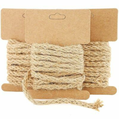 12-Pack 6.5 Feet Natural Jute Rope Cord Twine String For Crafts DIY, 5mm • 8.99£