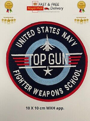 £1.99 • Buy Top Gun Video Game Sky Blue Embroidered Sew/Iron On Patch Badge Jacket/JeansN-44