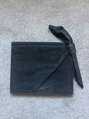 Lanvin Black Velvety Suede Clutch Bag • 50£