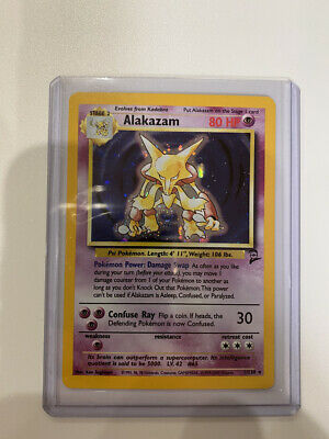 AU7.62 • Buy ALAKAZAM - Base Set 2 - 1/130 - HOLO Rare - Pokémon Card - Unlimited Ed - NM