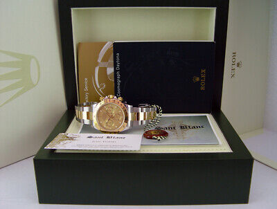 $ CDN22153.36 • Buy ROLEX 18kt Gold & Stainless Steel DAYTONA Champagne Index Dial 116523 SANT BLANC