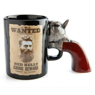 AU15 • Buy Ned Kelly Wanted Poster Mug With 3D Gun Handle