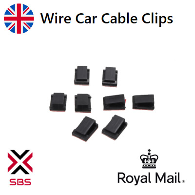 Wire Cable Clips Self-Adhesive Cord Wire Holder For Car Office Home 10 - 100 Pcs • 2.49£