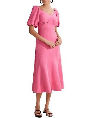 AU150 • Buy Country Road Full Sleeve Midi Dress Size 16, XL,  Pink BNWT RRP $249