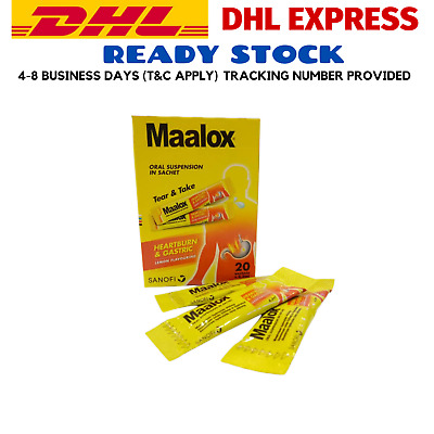 $38.80 • Buy MAALOX PLUS SIMETHICONE SUSPENSION 20'S For Relief Gastric, Stomach Wind EXPRESS