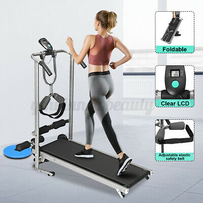 AU156.12 • Buy LCD Display Manual Treadmill Sit Up Waist Twisting Exercise Machine Home Gym