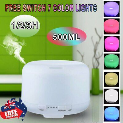 AU28.85 • Buy 500ml Essential Cool Mist Oil Aroma Diffuser Ultrasonic Humidifier Aromatherapy