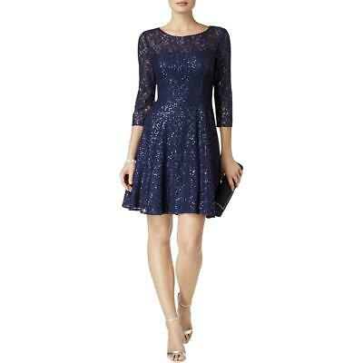 AU21.95 • Buy SLNY Womens Navy Lace Mini Special Occasion Party Dress 4  9949