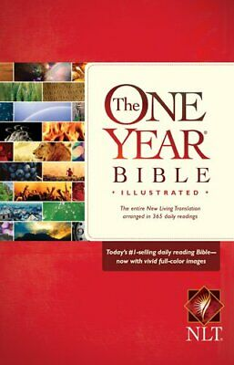 NLT One Year Bible Illustrated By Tyndale Book The Cheap Fast Free Post • 22.99£