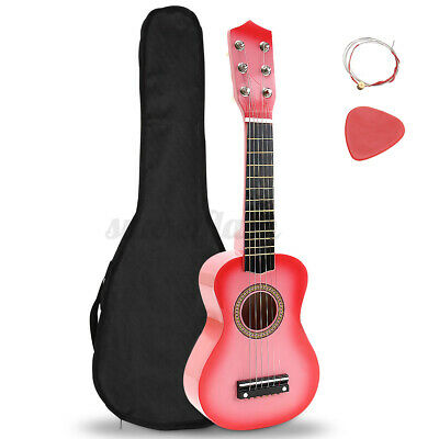 21''pink Childrens Kids Wooden Acoustic Guitar Musical Instrument Gift Child Toy • 11.99£