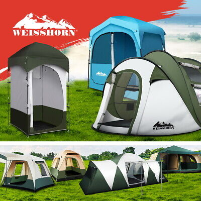 AU84.95 • Buy Weisshorn Camping Tent Pop Up Tents Shower Change Room 2-12 Person Waterproof
