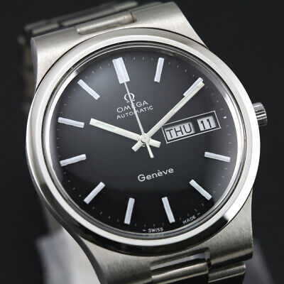 $ CDN5.34 • Buy Vintage Omega Geneve Automatic Cal1020 Day Date Men's Dress Black Dial Watch