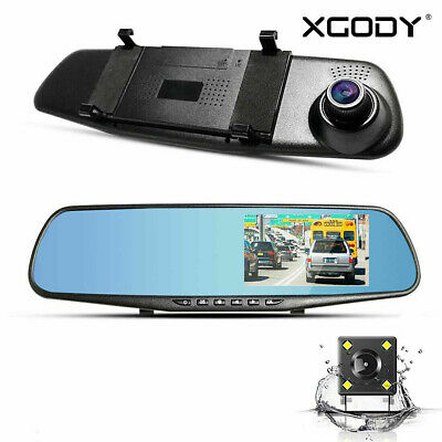 AU36.99 • Buy XGODY 4.7  FHD 1080P Dash Cam Dual Lens Car DVR Front And Rear Camera Recorder