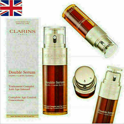 Clarins Double Complete Serum Firming UK Control Aging Anti Age 50ml Concentrate • 12.31£