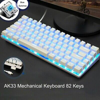 AU58.08 • Buy GK 83 Keys Gaming Mechanical Keyboard Backlit LED RGB Gateron Switch Waterproof