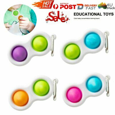 AU9.99 • Buy Baby Simple Dimple Sensory Fidget Toy Silicone Flipping Board 3+ Kids Gift GD AU