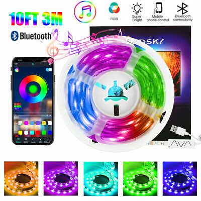 AU18.99 • Buy 10FT/3m Smart Wifi RGB Waterproof LED Strip Lights For Alexa Echos Google Home