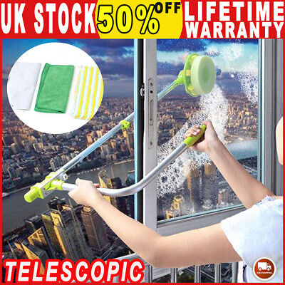 U-type Telescopic High Rise Window Cleaner Glass Dust Cleaning Brush Squeegee Uk • 17.60£