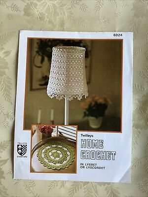 £3.25 • Buy Vintage Twilleys Crochet Pattern 6024. Crochet Lampshade And Mat.