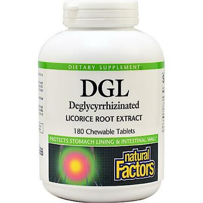 AU25.32 • Buy Natural Factors, Dgl 400 Mg, Licorice Extract, 180 Chewable Tablets