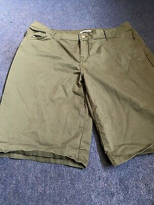 Ladies Khaki Shorts TU Size 16 • 3£
