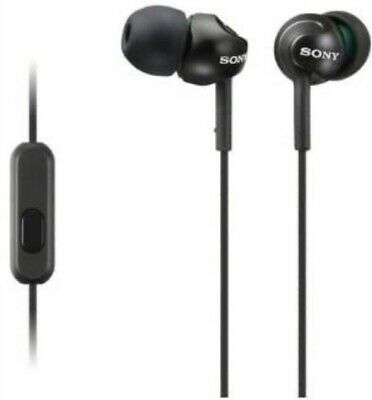 Sony In-ear Headphones With Mic In Line Remote For Hands Free Phone Calls, BLACK • 22.99£