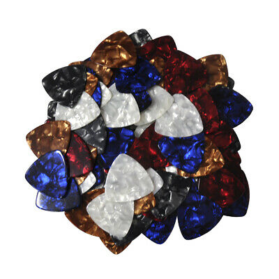 $ CDN18.80 • Buy 100Pcs Heavy 0.96mm Celluloid 346 Rounded Triangle Guitar Picks Assorted Colors