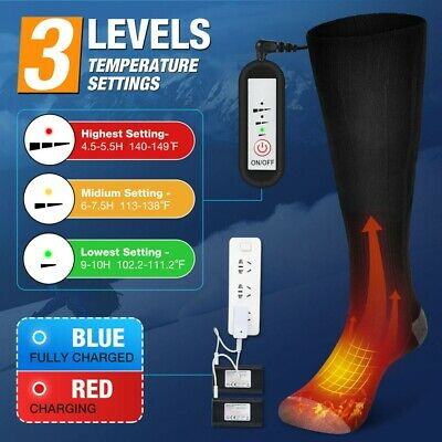 £26.99 • Buy Electric Heated Socks Rechargeable Battery 5V Feet Winter Warm Skiing Hunting