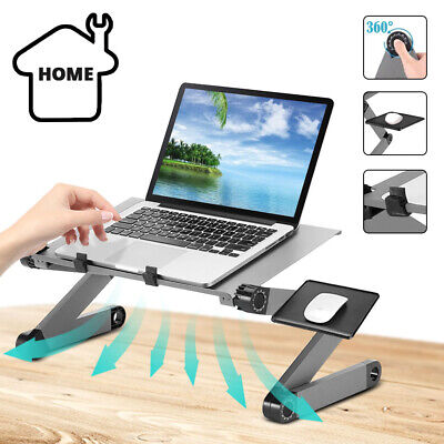 £9.49 • Buy Adjustable Laptop Stand Desk Table Folding Computer Table Portable Sofa Lap Tray