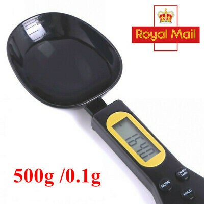 500g/0.1g Digital Spoon Scale LCD  Kitchen Lab Food Electronic Measure Weight UK • 6.45£