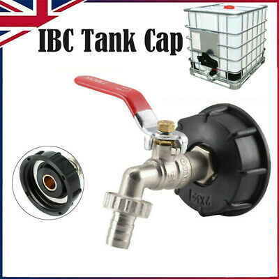IBC Tank Adapter S60X6 To Brass Drain Tap With 1/2  Hose Fitting Oil Fuel Water • 8.79£