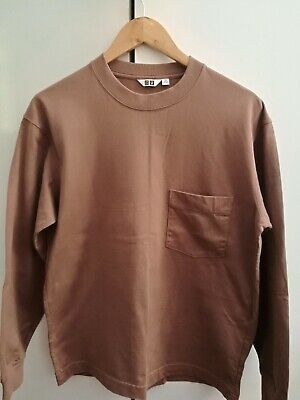 AU10 • Buy UNIQLO CREW NECK LONG SLEEVE T-SHIRT Brown Like New Condition Size Extra Small