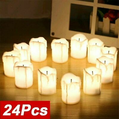 £10.99 • Buy 24PCS Skinny Wax Candle Battery Operated LED Flameless Pillar Candles Tea Lights