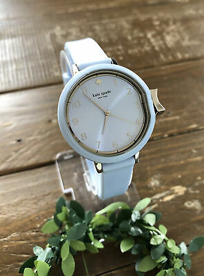 $ CDN68.93 • Buy EUC Kate Spade New York Park Row Pale Light Baby Blue Silicone Strap Band Watch