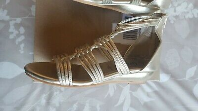 New Look Gold Gladiator Sandals Women Size 4 • 0.99£