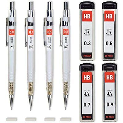$8.93 • Buy Drafting Pencil Set - Each Mechanical With Erasers Pencils 0.3, 0.5, 0.7, 0.9 Mm