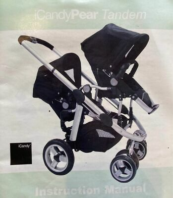 Icandy Apple Double Twin Buggy Pear Tandem Pram Pushchair Seats &  Attachements • 40£