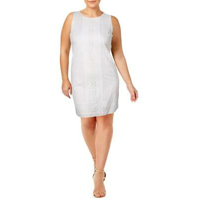 $ CDN19.45 • Buy Ivanka Trump Womens Amalfi White Cotton Sleeveless Casual Dress 10  0011