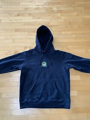 $ CDN135 • Buy SUPREME Vampire Hoodie Navy Blue Large Used Excellent Condition