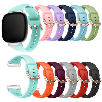 $ CDN5.18 • Buy Slim Metal Buckle Band For Fitbit Versa 3/ Fitbit Sense Wrist Watch Strap S/L