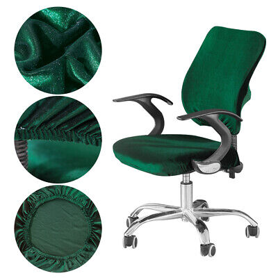 AU19.19 • Buy Elastic Office Chair Cover Split Computer Seat Dustproof Solid Stretch Universal