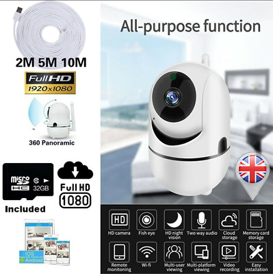 WIFI IP Camera HD 1080P Indoor Wireless CCTV Smart Home Security Night Vision UK • 22.88£