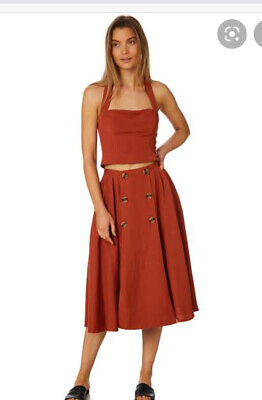 AU10 • Buy Tigerlily Pleated Lina Linen Skirt Size 8
