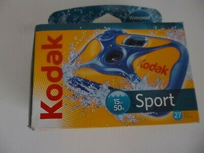 £7.99 • Buy KODAK SPORT UNDERWATER WATERPROOF DISPOSABLE 35mm CAMERA Expired 2013