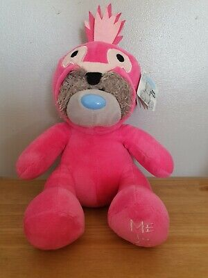 Me To You Tatty Teddy 9  Dressed In A Pink Animal 1onesie - Dark Pink • 7.95£