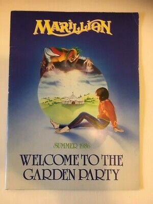 £25 • Buy Marillion: Welcome To The Garden Party Summer 1986 Tour Programme